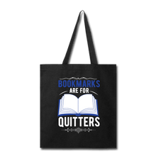Load image into Gallery viewer, Book Marks are for Quitters Tote Bag. - Coach Rock