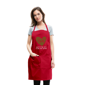 Healthy eating for a strong heart beating Apron - Coach Rock