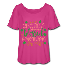 Load image into Gallery viewer, Chosen, Blessed Forgiven Women's Flowy T-Shirt - Coach Rock