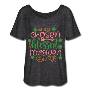 Chosen, Blessed Forgiven Women's Flowy T-Shirt - Coach Rock