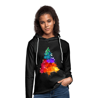 Colorful Christmas Tree Terry Hoodie - Coach Rock