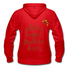 Load image into Gallery viewer, Holiday Hugs & Kisses Women's Zip Hoodie - Coach Rock