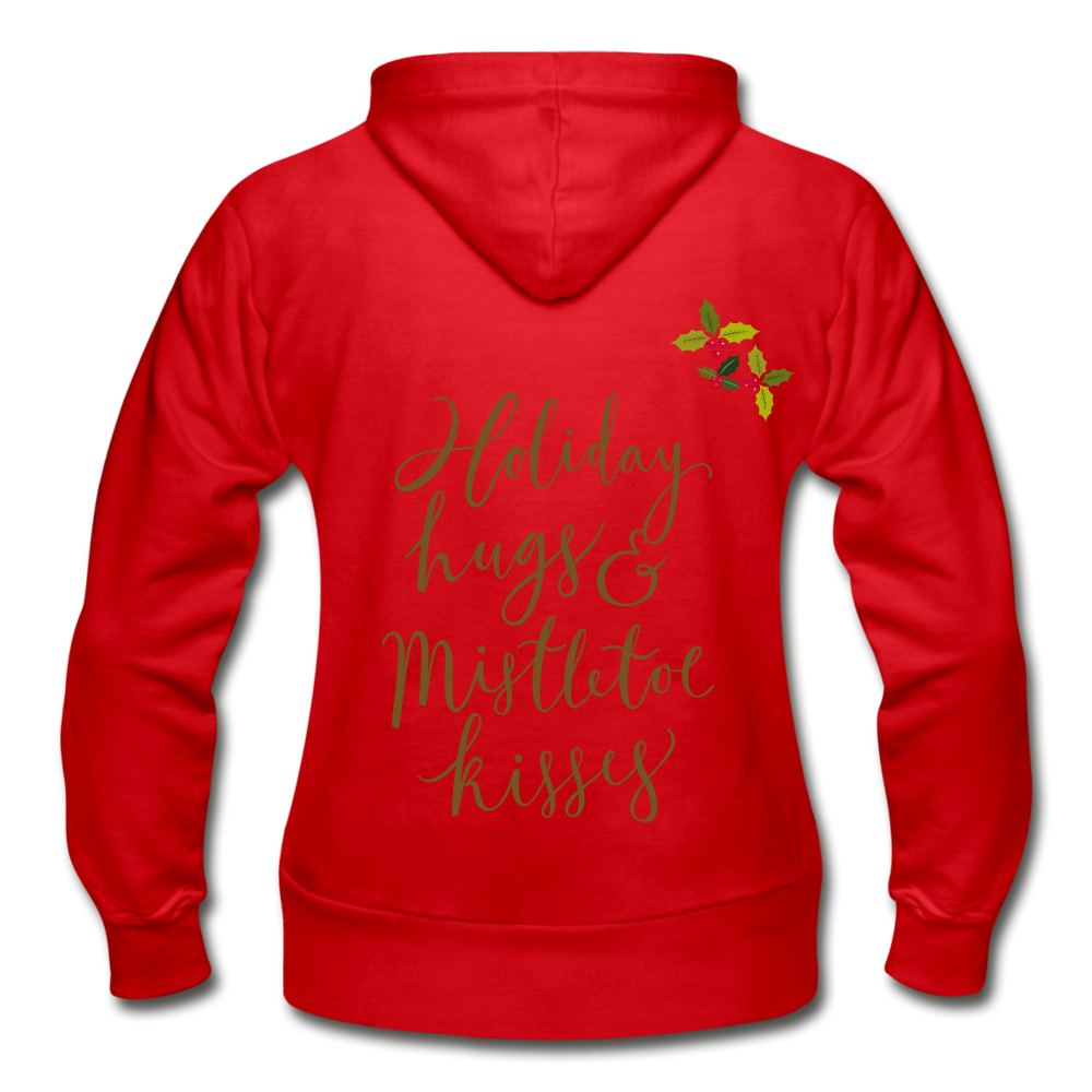 Holiday Hugs & Kisses Women's Zip Hoodie - Coach Rock