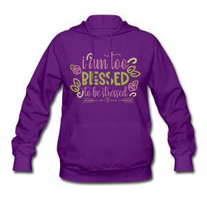 To Blessed To Be Stressed Women's Hoodie - Coach Rock