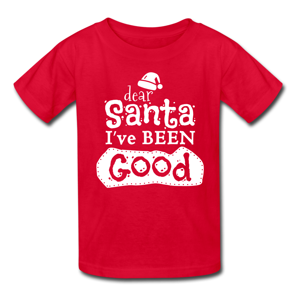 Dear Santa, I Was Good & My Sister Too Kids' T-Shirt - Coach Rock