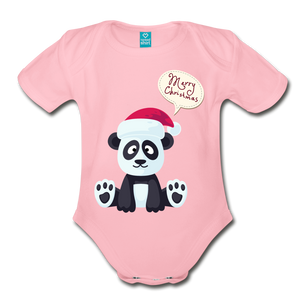 Merry Christmas Organic Short Sleeve Baby Bodysuit - Coach Rock