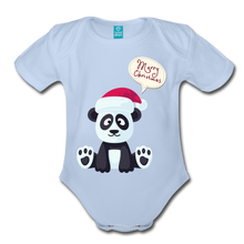 Load image into Gallery viewer, Merry Christmas Organic Short Sleeve Baby Bodysuit - Coach Rock