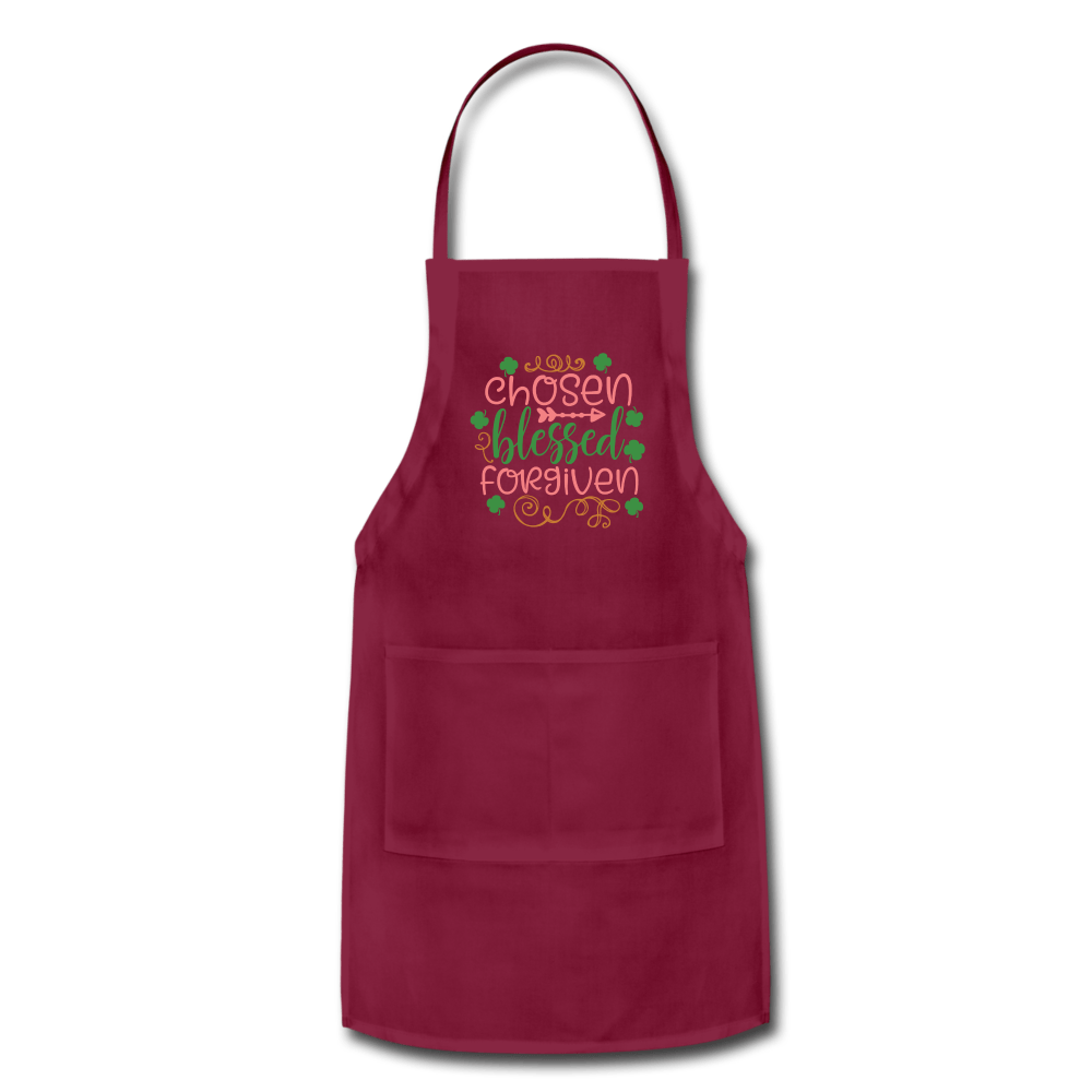 Chosen, Blessed & Forgiven Adjustable Apron - Coach Rock
