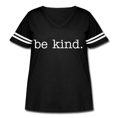 Be Kind. Women's Curvy Vintage T-Shirt - Coach Rock