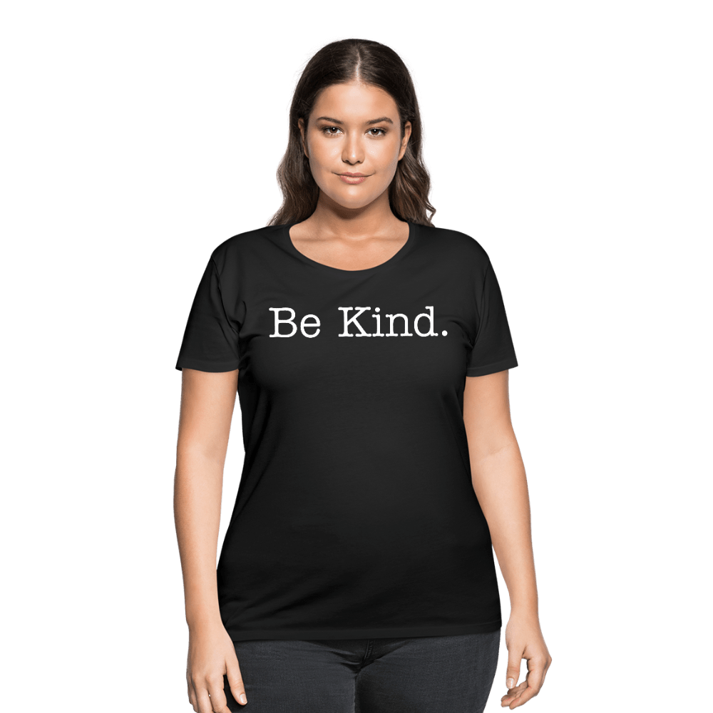 Be Kind Women's Curvy T-Shirt - Coach Rock