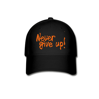 CR Never Give Up! Baseball Cap - Coach Rock