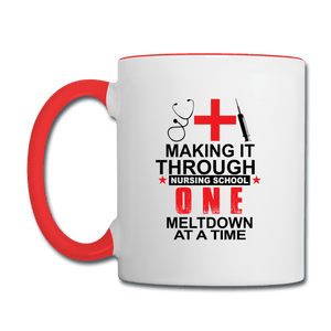 Making it Through Nursing School Mug - Coach Rock