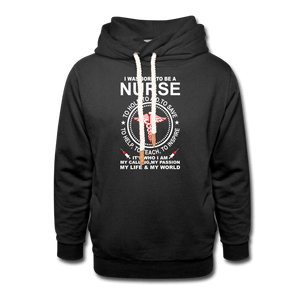 I Was Born to be a Nurse Shawl Collar Hoodie - Coach Rock