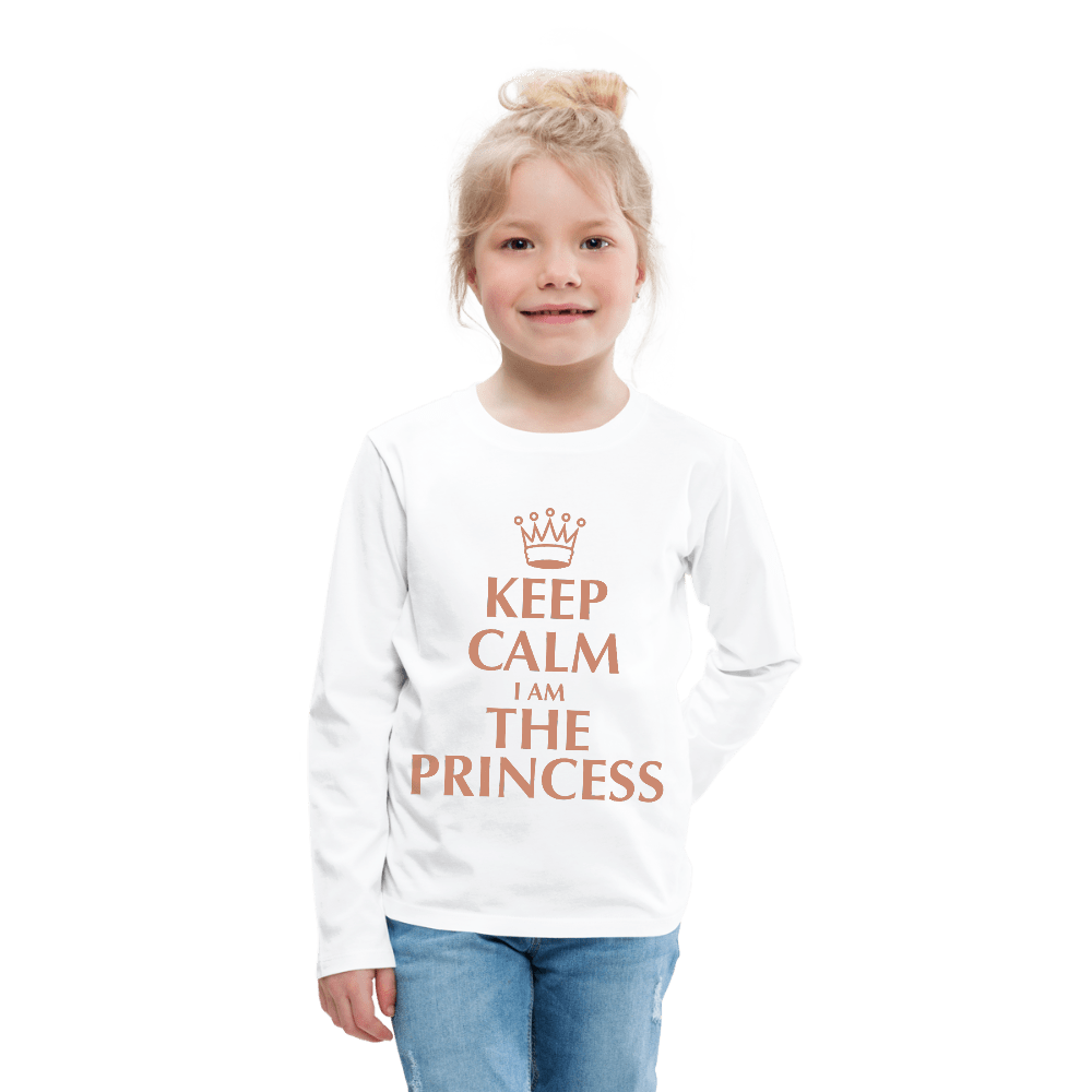Keep Calm I Am The Princess Kids' Long Sleeve Shirt - Coach Rock