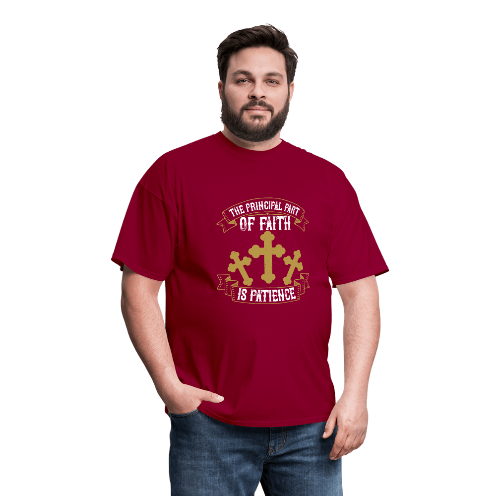 The Principal Part of Faith is Patience T-Shirt - Coach Rock