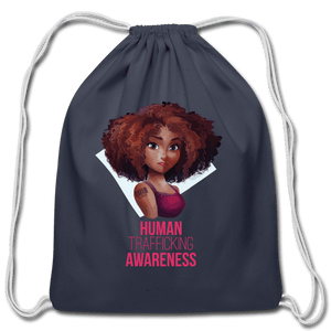 Human Trafficking Awareness Cotton Drawstring Bag - Coach Rock
