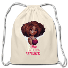 Load image into Gallery viewer, Human Trafficking Awareness Cotton Drawstring Bag - Coach Rock