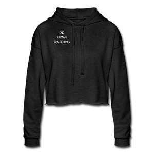End Human Trafficking Awareness Women's Cropped Hoodie - Coach Rock