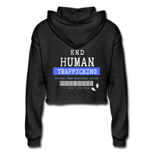 Load image into Gallery viewer, End Human Trafficking Awareness Women's Cropped Hoodie - Coach Rock