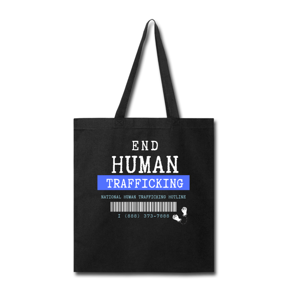 Human Trafficking Awareness Tote Bag with National Helpline - Coach Rock