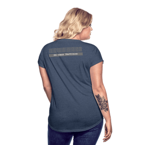 Freedom Fighter Human Trafficking Advocate Women's V-Neck T-Shirt - Coach Rock