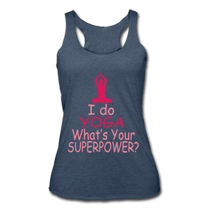I Do Yoga What's Your Superpower Women's Racerback Tank - Coach Rock