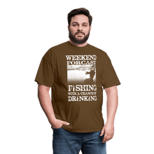 Load image into Gallery viewer, Weekend Forcast Fishing T-Shirt (Unisex) - Coach Rock