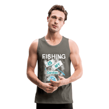 Load image into Gallery viewer, Fishing Is My Cardiac Men's Premium Tank - Coach Rock