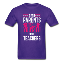 Load image into Gallery viewer, Parents Tag Love Teachers Adult T-Shirt - Coach Rock