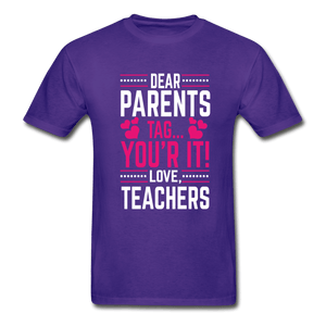 Parents Tag Love Teachers Adult T-Shirt - Coach Rock