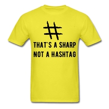 Load image into Gallery viewer, That's A Sharp Not a Hashtag T-Shirt - Coach Rock