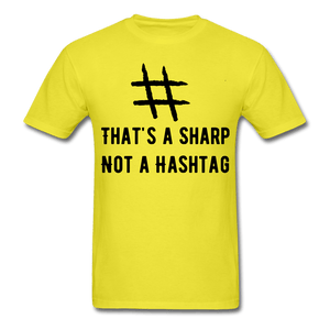 That's A Sharp Not a Hashtag T-Shirt - Coach Rock