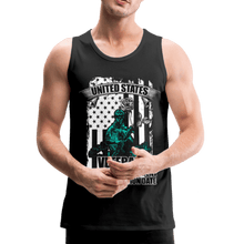 Load image into Gallery viewer, US Veteran Oath Men's Premium Tank - Coach Rock