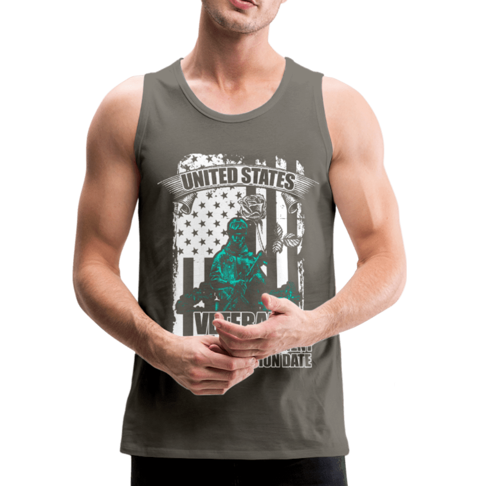US Veteran Oath Men's Premium Tank - Coach Rock