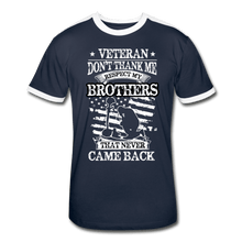 Load image into Gallery viewer, Veteran Respect My Brothers Men's Retro T-Shirt - Coach Rock