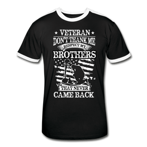 Veteran Respect My Brothers Men's Retro T-Shirt - Coach Rock