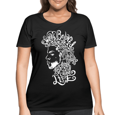 Dearly Beloved Women's Curvy T-Shirt (Plus Size) - black