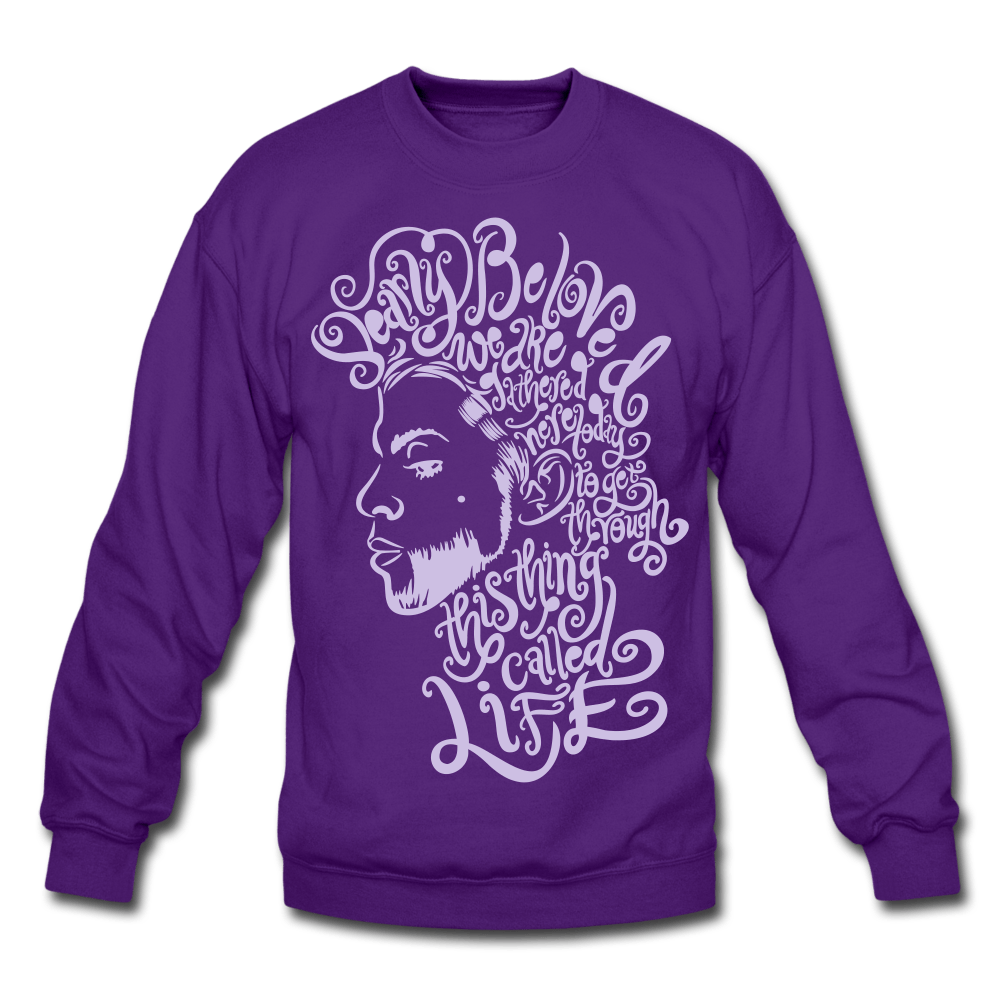 Dearly Beloved Crewneck Sweatshirt - purple