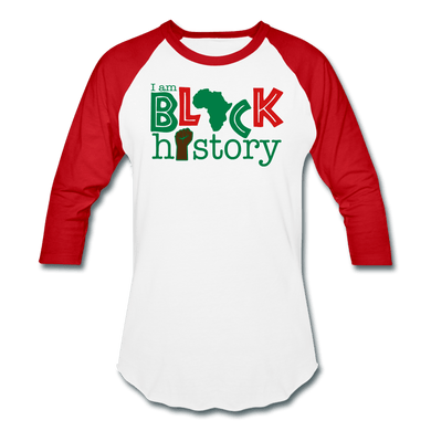 I am Black History T-Shirt - white/red