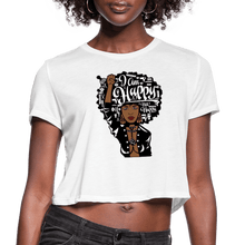 Load image into Gallery viewer, I am Happy Not Nappy Cropped T-Shirt - white