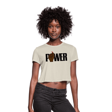 POWER Women's Cropped T-Shirt - dust