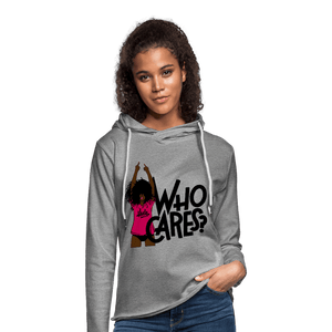Who Cares? Terry Hoodie (Unisex) - heather gray