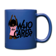 Load image into Gallery viewer, Who Cares? Mug - royal blue
