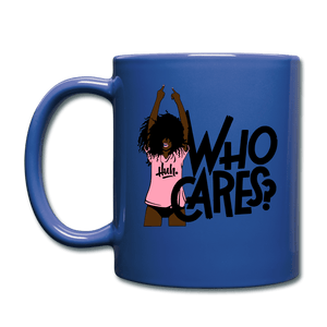 Who Cares? Mug - royal blue