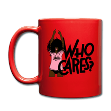 Load image into Gallery viewer, Who Cares? Mug - red