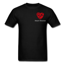 Load image into Gallery viewer, Heart Warrior, Heart Disease Awareness T-Shirt - black