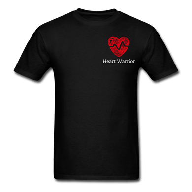Heart Warrior, Heart Disease Awareness T-Shirt - black