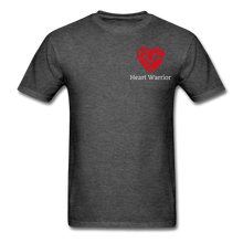 Load image into Gallery viewer, Heart Warrior, Heart Disease Awareness T-Shirt - heather black