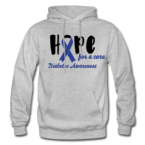 Hope For a Cure Diabetes Adult Hoodie - heather gray