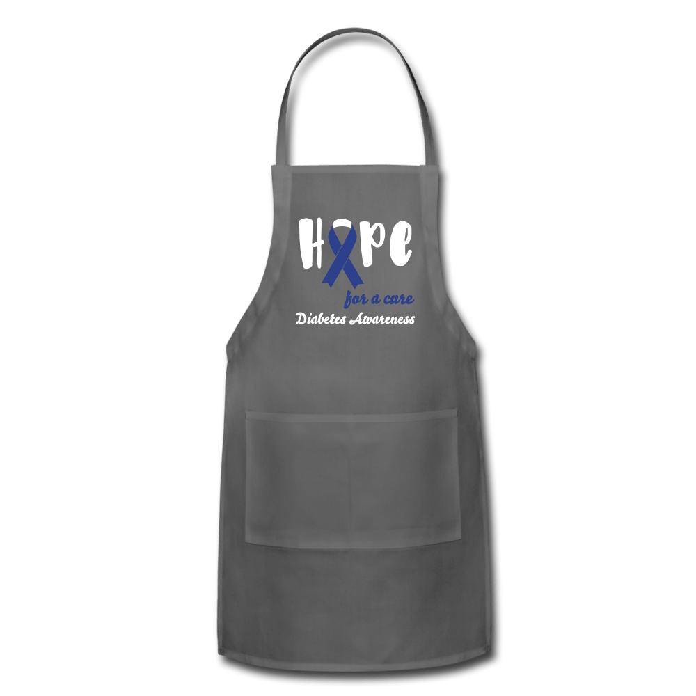 Hope For a Cure Diabetes Apron - charcoal